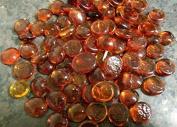 25 Dark Orange Glass Pebbles Stones 20mm Home and Garden Decor Wedding Vases