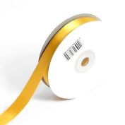 3mm x 50m Bright Gold Double Sided Satin Ribbon - Florist, Arts, Crafts, Gift Wrap