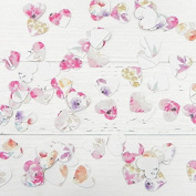 Rustic Pastel Flowers - Heart Table Confetti