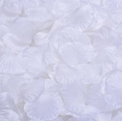 Cdet 500Pcs/Lot Artificial Flowers White Rose Petal Simulation Petal Wedding Petal Fake Petal Decoration for Hotel Event Party Christmas