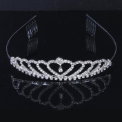 kimberleystore Beautiful Delicate Shining Rhinestones Crown Tiara with Comb for Child Wedding Bridal Prom