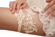 Lemandy Handmade Lace Wedding Garter Ivory Bridal Garter Lace Garter TD018