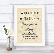 Cream Roses Welcome To Our Engagement Party Personalised Wedding Sign