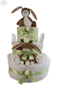 Deluxe Guess How Much I Love You® 3 tier Baby Nappy Cake Gift Hamper - Hidden keepsake capsule. FAST .