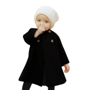 Baby Girls Winter Coat Cute , YOYOUG A Perfect Gift For Your Little Prince Autumn Winter Girls Kids Baby Outwear Cloak Button Jacket Warm Coat Clothes