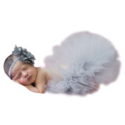 Photography Prop for baby girl 0-9 Months Tutu Skirts Headdress Newborn Outfits