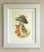 Beatrix Potter FRAMED PRINT, Christening, New Baby/Birth, Baby Shower, Nursery Picture Gift, Peter Rabbit and Friends, Benjamin Bunny