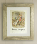 Beatrix Potter FRAMED QUOTE PRINT, Christening, New Baby/Birth, Baby Shower, Nursery Picture Gift, Peter Rabbit and Friends, Jemima Puddleduck