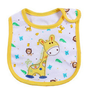 Lovely Cute Cartoon Pattern Toddler Baby Waterproof Saliva Towel Baby Bib