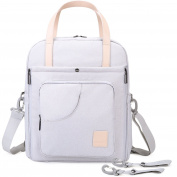 MOMMORE Stylish Changing Bag Backpack Travel Changing Shoulder Bag for Baby Care, Best Baby Shower Gift for Mommy and Dad, Cream