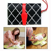 Itian Foldable Baby Nappy Changing Mat and Mini Bag Hanging Mat Nappy Changing Pad for for Toddlers