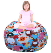 Extra Large Storage Bean Bag   Stuffed Toy Storage   Bean Bag Chair   Stuffed Storage Bag   Plush Toy Organiser   Perfect Storage Solutions   Creative Solution for Kids Animal Carnival - 100cm