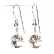 pewterhooter 925 Sterling Silver 9mm drop earrings handmade with crystal from ® for Women