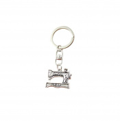 Fashion Car Keychain Silver Colour Metal Key Chains Accessory, Vintage sewing machine Key Rings