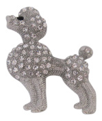 Brooch Boutique Silver Plated Crystal Poodle Dog Brooch