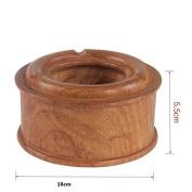 Solid wood carving circular high grade ashtray,B