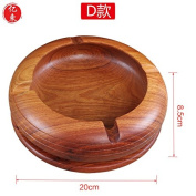 Living room office retro solid wood ashtray,D