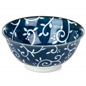 Blue Karakusa Ceramic Japanese Tayou Bowl