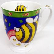 Bees Mug Fine Bone China Royal Colourful Bee Mug Hand Decorated in the UK