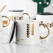 HAN-NMC Ceramic Mug With Cover Glass Coffee Cup