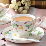 HAN-NMC Ceramic Coffee Cup, Saucer Set, Coffee Cup