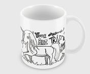 Hiros®Unicorn Gift Mug , Your dreams are trite and smell like , Funny unicorn mug , 330ml ceramic mug , would make a great gift on Christmas occasion .