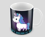 Hiros®Dont dream it Do it , Unicorn gift mug , 330ml ceramic mug , Great statement from unicorn mug idea , Birthday gift .