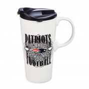 Team Sports America 3CTC3818 New England Patriots Perfect Cup, White