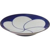 Hakusan porcelain Hakusan torsion pottery blue plum 5-sum plate