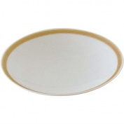 Hakusan porcelain rust 6 Japanese dish