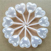 50pcs Pipettes Plastic Heart Shaped Squeeze Transfer Oils Eye Dropper 4ml