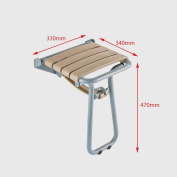 TSAR003 Multi-Functional Stainless Steel Bathroom Folding Shower Seat Wall Mounted/Shoe Stool,34cm *33cm *47cm ,150kg Load Bearing