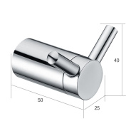 Clothes and hat Stainless steel Bathroom Hardware Hanging hook