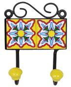 Floral Iron Wall Décor Coat Holder Room Rack Hanger Organiser Decorative Wall Hook