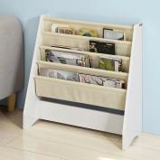SoBuy® FRG225-W, Children Kids Bookcase Book Shelf Sling Storage Rack Organiser Display Holder