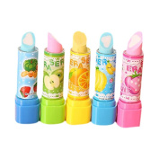 Fablcrew Erasers Novelty Lipstick Style Rubber Pencil Erasers School office Stationery Set of 4