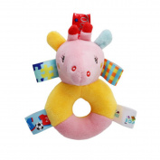 LnLyin Baby Early Education Toys Rattles Soft Cloth Hand Ringing Toy ,Deer