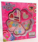 Fashion Girl Toy Large First Real Kids Make Up And Mirror Heart Shape Sets