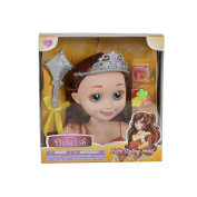 Toon Studio Fairytale Princess 18cm Hair Styling Head Belle Doll With Brush & Accessories For Ages 3+