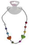 Girls Plastic Beads & Heart Necklace