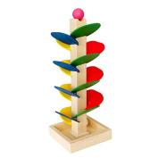 YiGooood Wooden Tree Puzzle Marble Ball Run Track Game Baby Kids Children Intelligence Educational Toy