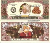 Novelty Dollar Merry Christmas Mrs Santa Claus Dollar Bills X 4 Gift