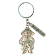 Official Paddington Bear Traditional Embossed Silver Metal Keyring