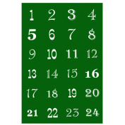 Christmas Countdown Advent Calendar Number Stickers Xmas Craft Gift Labels