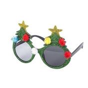 Novelty Christmas Theme Glasses (Christmas Tree, Santa, Reindeer, Snowflake etc)