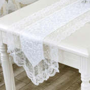 QZZ Table Runners Waterproof Beautiful Warmth Lace Cloth Dining Table Placemat Table Runner