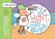 Cafe Owner role play pad for pretend play includes Order Pad, Menus, Recipes, Stickers etc