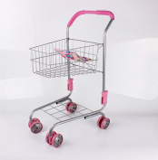 Vinsani Children Kids Metal Toy Shopping Trolley Basket Supermarket Pretend Play