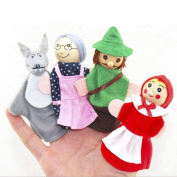Little Red Riding Hood Finger Puppets Plush Educational Toy Nursery Rhyme Fairy Tale Puppets