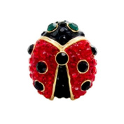 Butler and Wilson Small Red Crystal Ladybird Brooch Pin